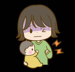 体調不良の産後のママ