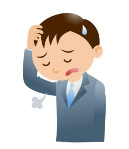 頭痛の男性